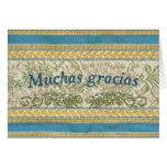 Thank You in Spanish, Muchas Gracias Greeting Card