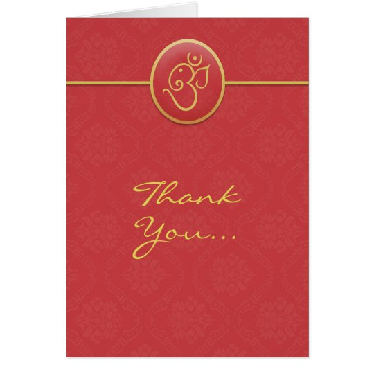 Thank You Indian Style Folded Card
