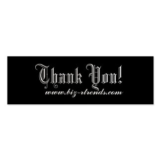Thank you indulge business card template