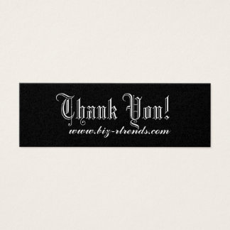 Thank you indulge mini business card