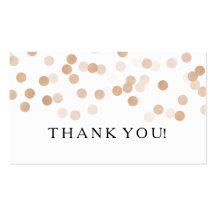 Thank You Insert Faux Copper Foil Glitter Lights
