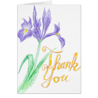 Thank You Iris Greeting Card