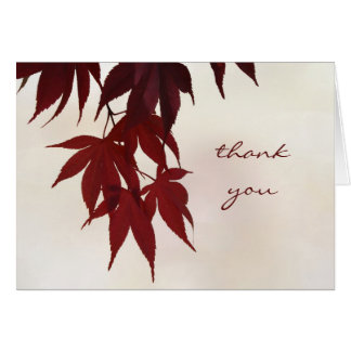Thank You - Japanese Maple Leaves Card