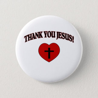 Thank You Jesus (Heart) 6 Cm Round Badge