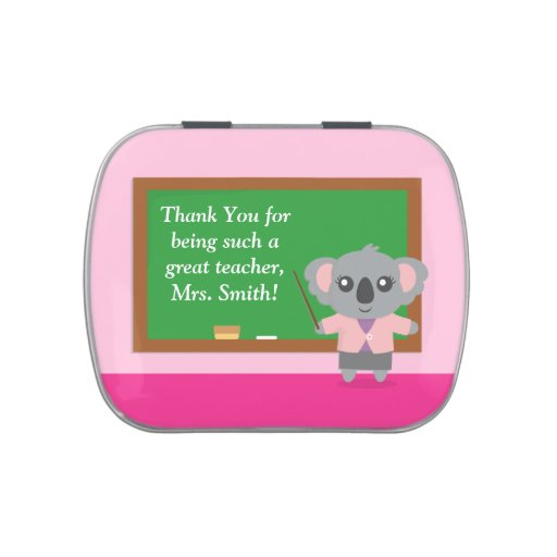 Thank You, Koala Bear, Teacher Appreciation Candy Tins