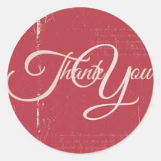 Thank You Label Seal - Wedding Blue Round Sticker
