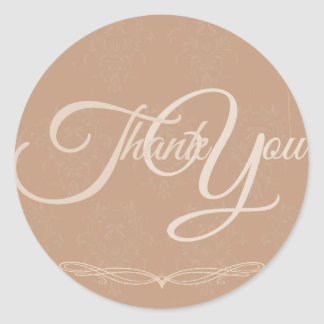 Thank You Label Seal - Wedding Pink Round Sticker
