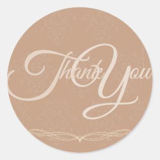 Thank You Label Seal - Wedding Pink Sticker