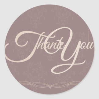 Thank You Label Seal - Wedding Purple