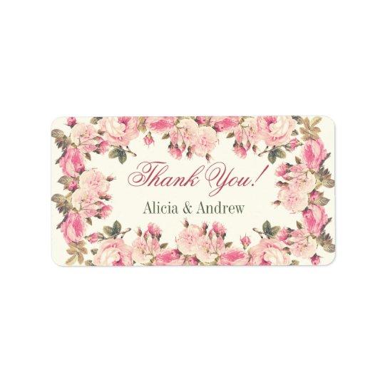 Thank you labels personalised custom wedding