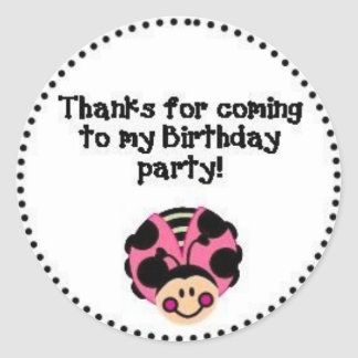 THANK YOU Ladybug Classic Round Sticker