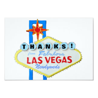 Thank You Las Vegas Newlyweds 9 Cm X 13 Cm Invitation Card