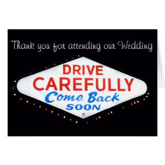 Thank you Las Vegas Wedding Newlyweds Card