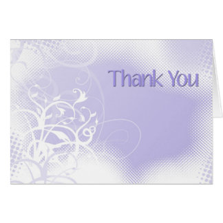 Thank You Lavender Swirls Greeting Card