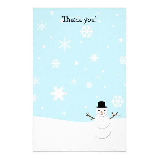 Thank you letters Christmas stationary Stationery Design