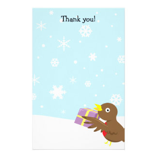 Thank you letters RobinChristmas stationary Stationery