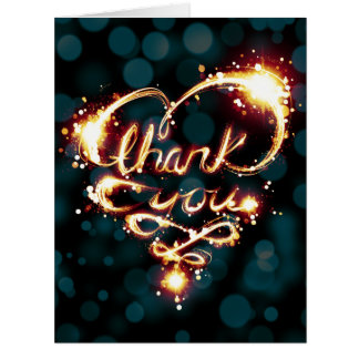 thank you light big greeting card