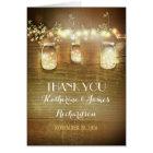 Thank You Lights Mason Jars Rustic Thank You Cards