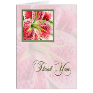 Thank You Lily Greeting Card