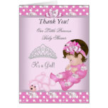 Thank You Little Princess Baby Shower Girl Bunnies Greeting Card