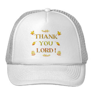 Thank You Lord! (with Autumn colored leaves) Cap
