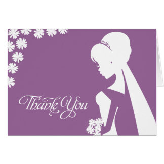 Thank You Maid of Honor Bridal Flower Wedding Card