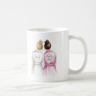 Thank you Maid of Honor Dk Bl Bride Dk Br Maid Coffee Mug