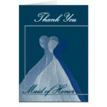 THANK YOU Maid of Honour - Blue Gowns Card