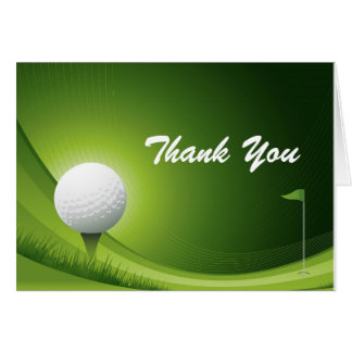 Thank You Man Golf Birthday Note Card