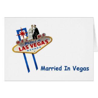 Thank you, Married in Vegas Notecards Note Card