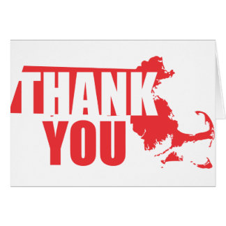 Thank You Massachusetts Greeting Card