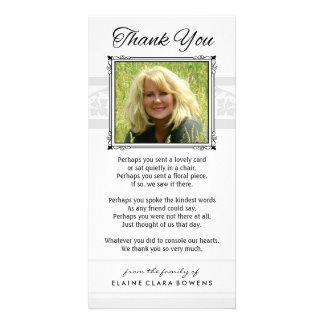 Thank You Memorial White & Gray Photo Card