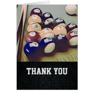 Thank You Men's Billiards Note Card