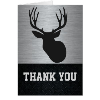 Thank You Men's Deer Hunting Note Card