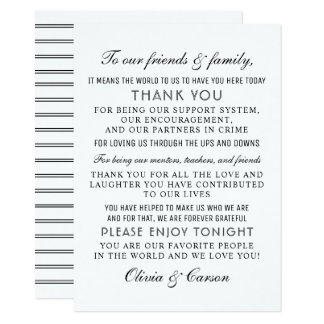 Thank You Message Card | Black and White