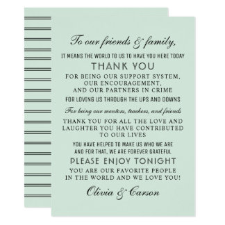 Thank You Message Card | Mint Green
