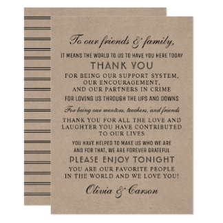 Thank You Message Card | Rustic Kraft