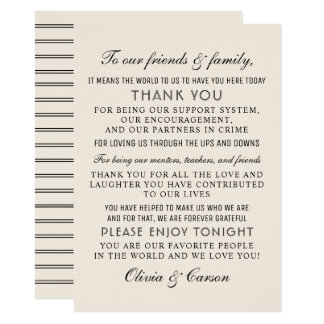Thank You Message Card | Warm White