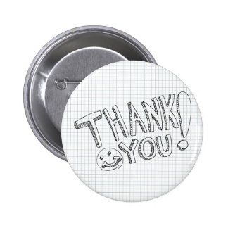Thank You Messages 6 Cm Round Badge