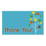 Thank You - Modern Tree Pack Of Standard Business Cards