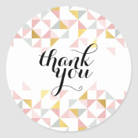 THANK YOU modern triangle aztec pattern coral gold