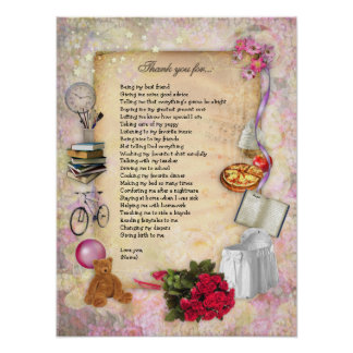 Thank you Mom (customizable) Poster