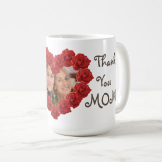 Thank you mom photo roses mug