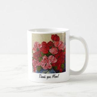 'Thank You Mom'  Roses & Peonies Coffee Mug