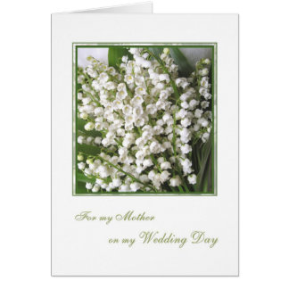 Thank you Mom, Wedding. White Lily of the valley. Note Card