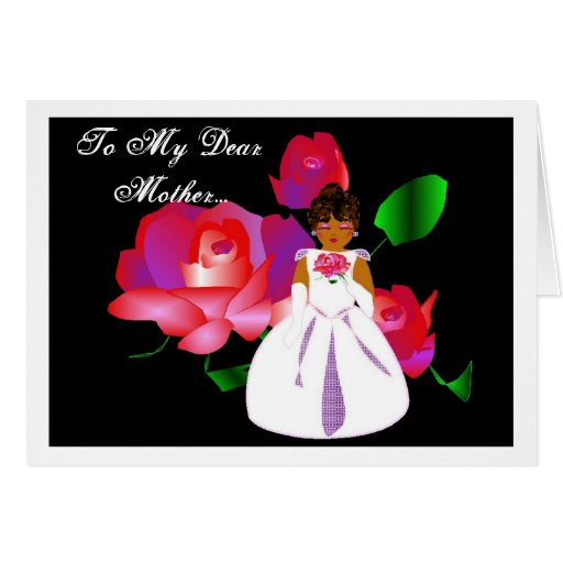 """""""Thank You Mother From Daughter"""" Wedding Day Card Cards"""