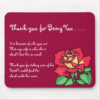 Thank-you Mother-in-Law Mousepad
