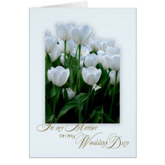 Thank you mother on my wedding day greeting card
