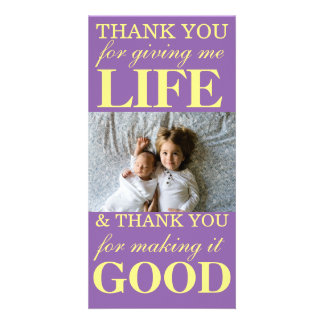 Thank You Mother's Day Card Custom Photo Card