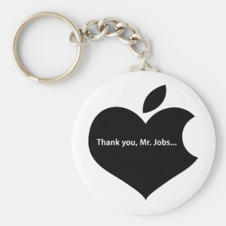 THANK YOU MR JOBS BASIC ROUND BUTTON KEY RING